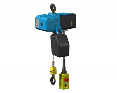 Suspended chain hoist