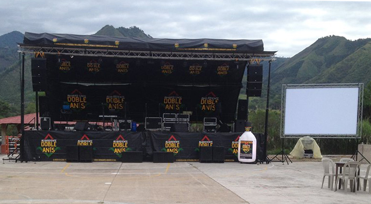 Aguardiente stage @ (Colombia)