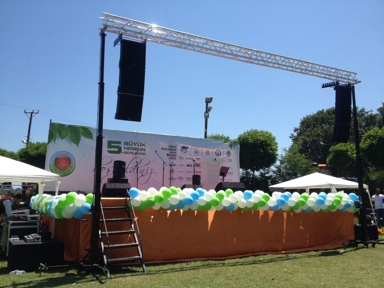 Outdoor stage with lifting towers @ (Turkey)