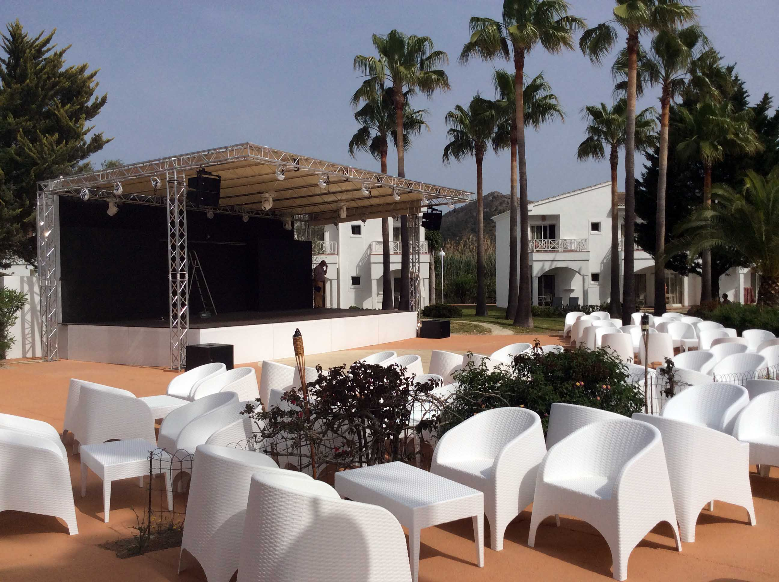 Stage with roof @ (Spain)