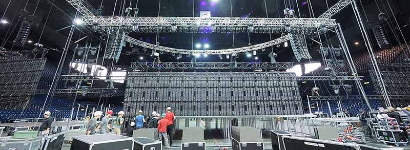 Truss Stage with LED screens for ICF Conference @ Zurich (Switzerland)