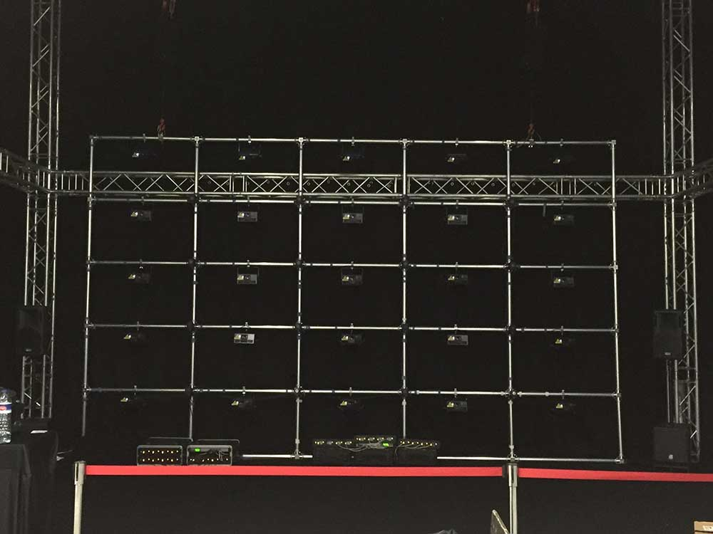 Truss structure for a stand @ Frankfurt (Germany)