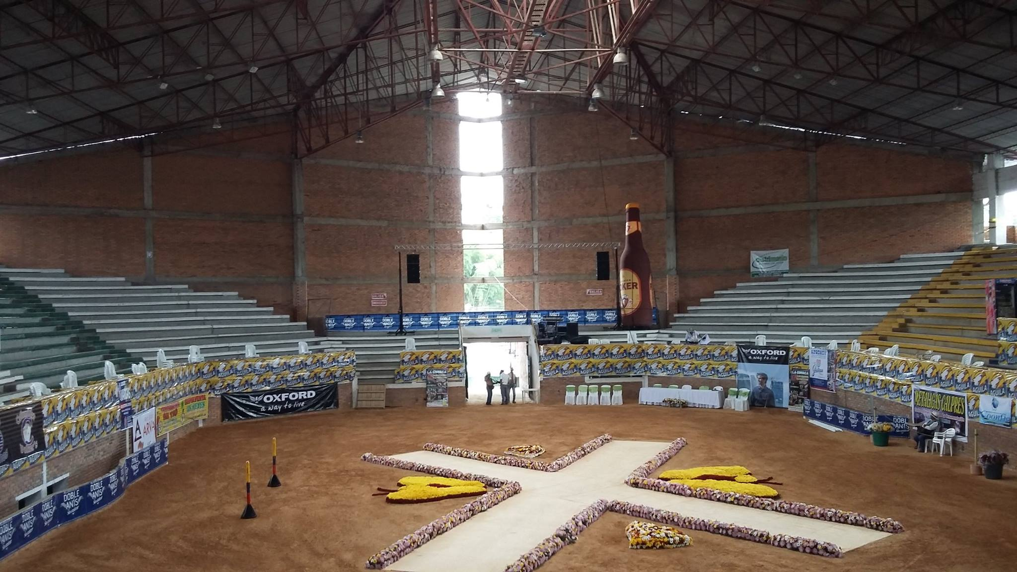 Horse fairs in  covered Coliseum @ Huila (Colombia)