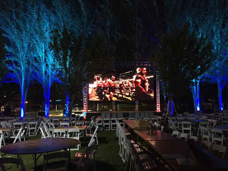 Ground support with LED screen for casino's anniversary @ Badajoz (Spain)