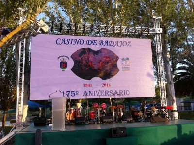 Ground support con pantalla LED para aniversario casino @ Badajoz (España)