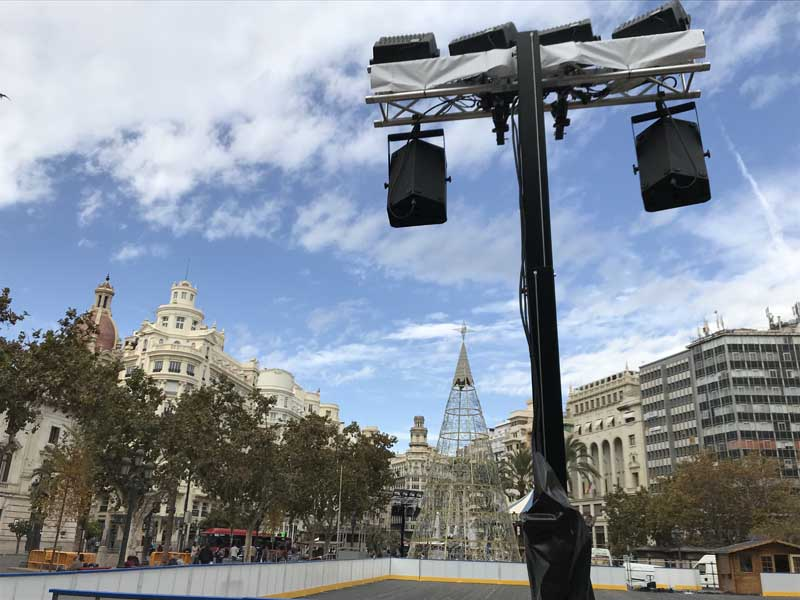 Ice rink @ Plaza del Ayuntamiento, Valencia (Spain)