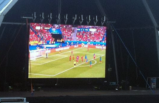 LED screen for UEFA Euro 2016 Final @ Castelo Branco (Portugal)
