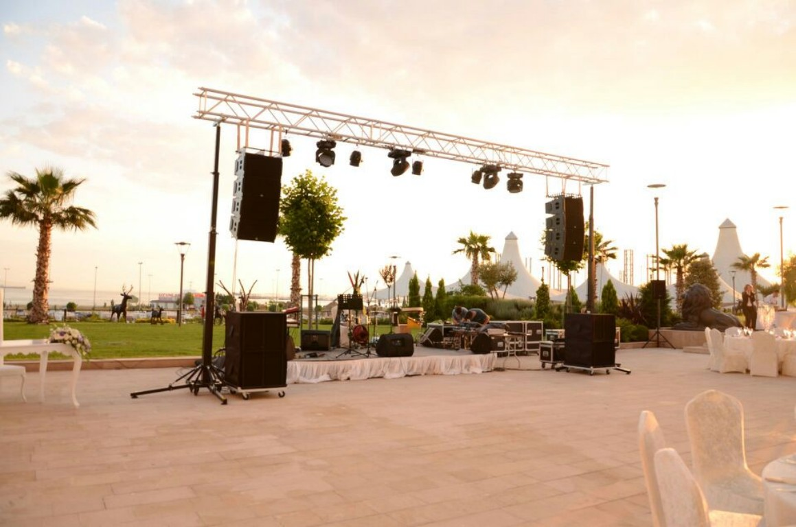 Sound and lighting for outdoor wedding @ Istanbul (Turkey)