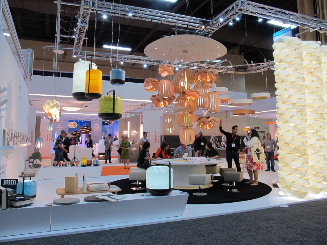 LZF Lamps booth Hospitality & Design Expo 2013 @ Las Vegas (USA)