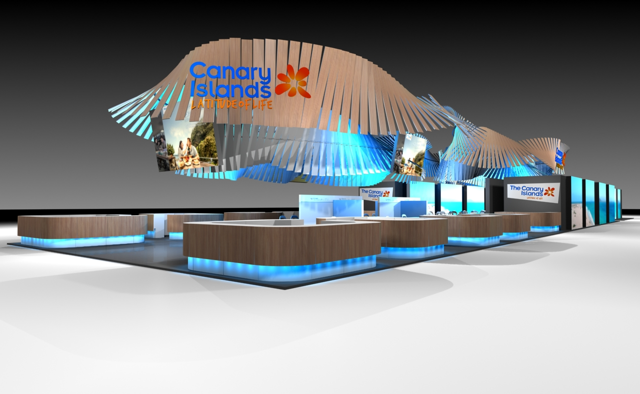 Canary Islands Toursim Office booth WTM Show 2014 @ London (UK)