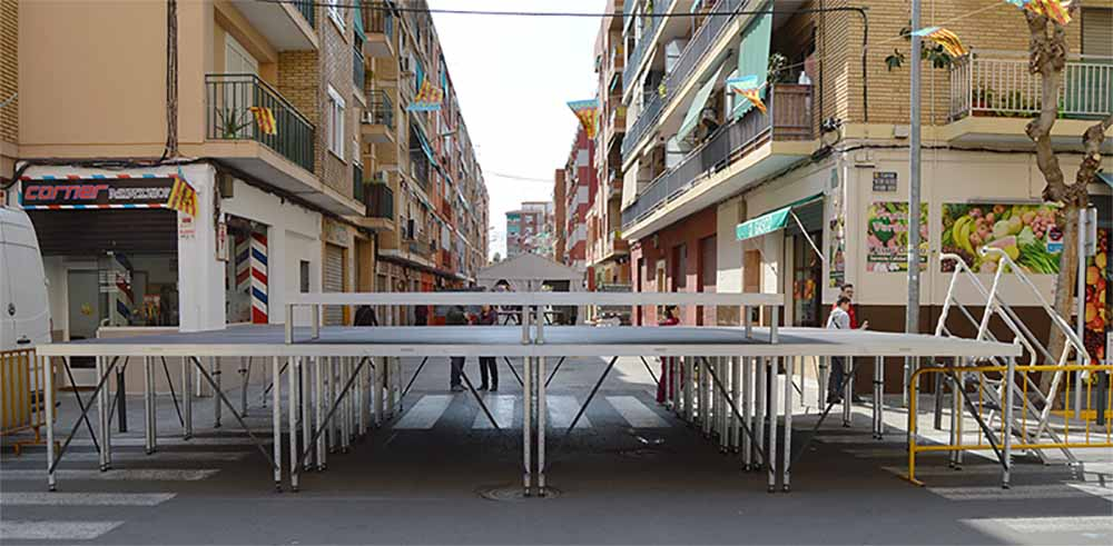 Platforms for a stage @ Valencia (Spain)