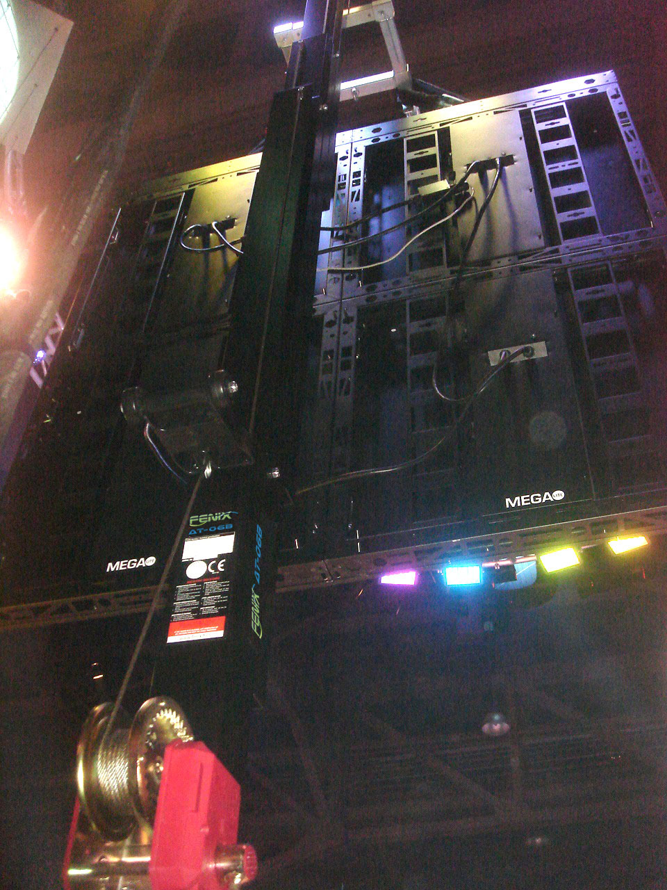 Lifting towers with LED screens @ LDI Show Las Vegas (USA)