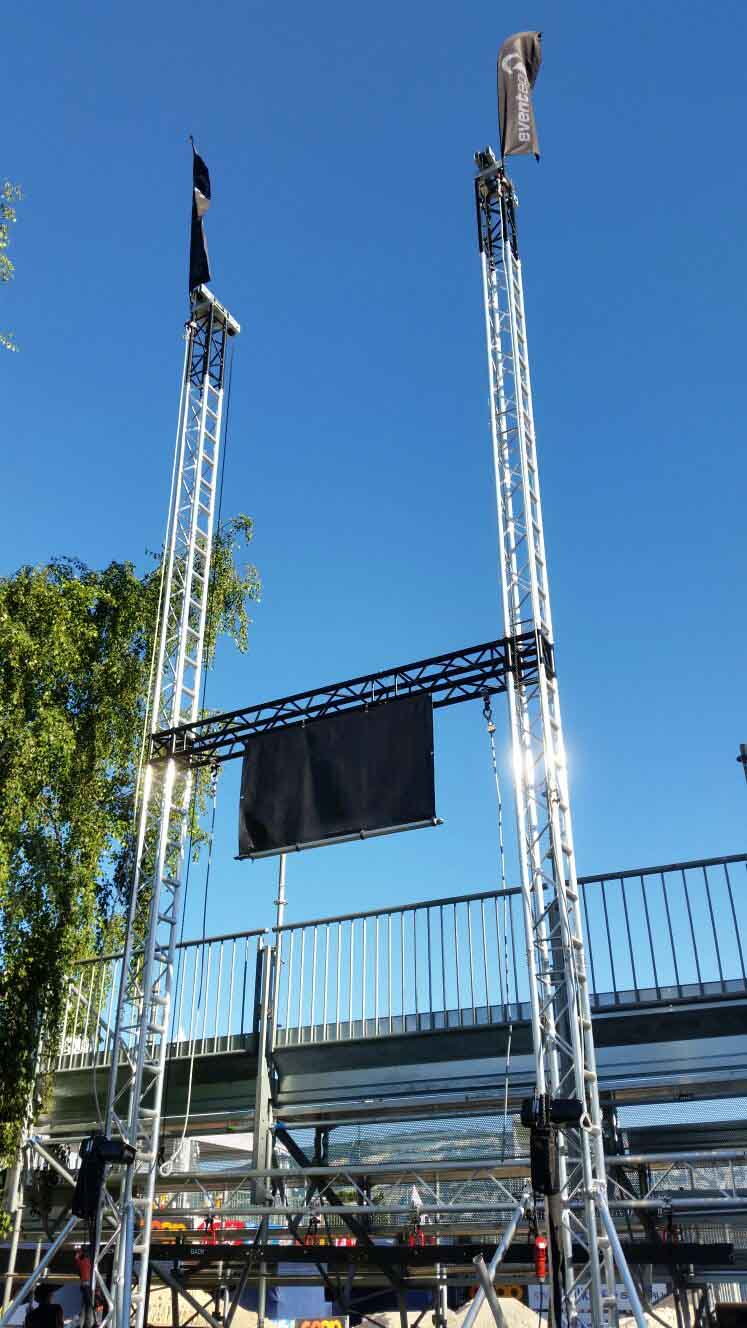 Torres ground support para evento deportivo Coop Beach Tour @ Locarno (Suiza)