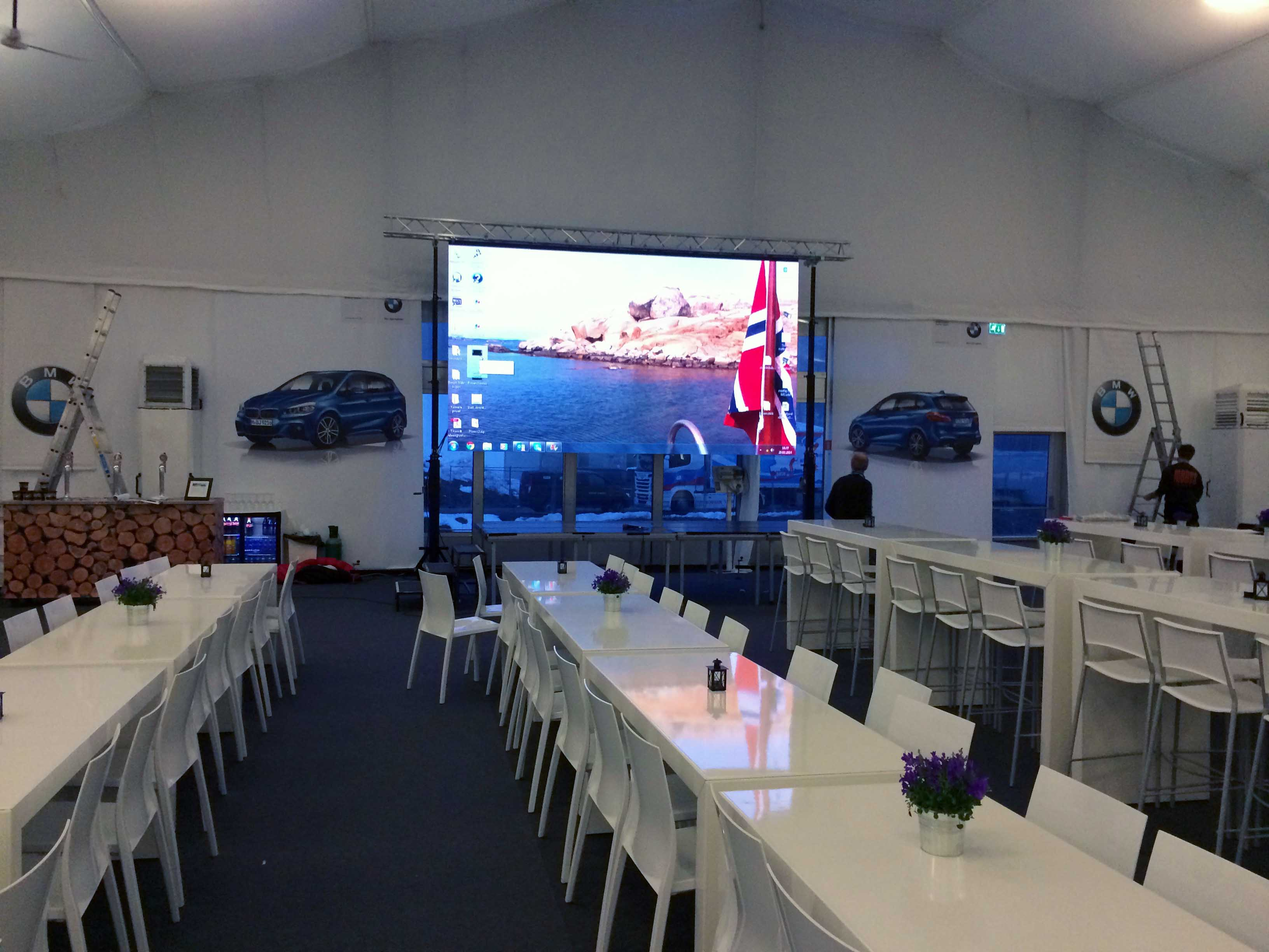 VIP area BMW Ski World Cup @ Oslo (Norway)